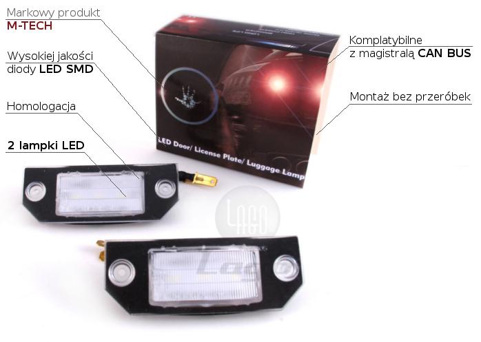 Lampki Led Podświetlenia Tablicy Rejestracyjnej Ford Focus