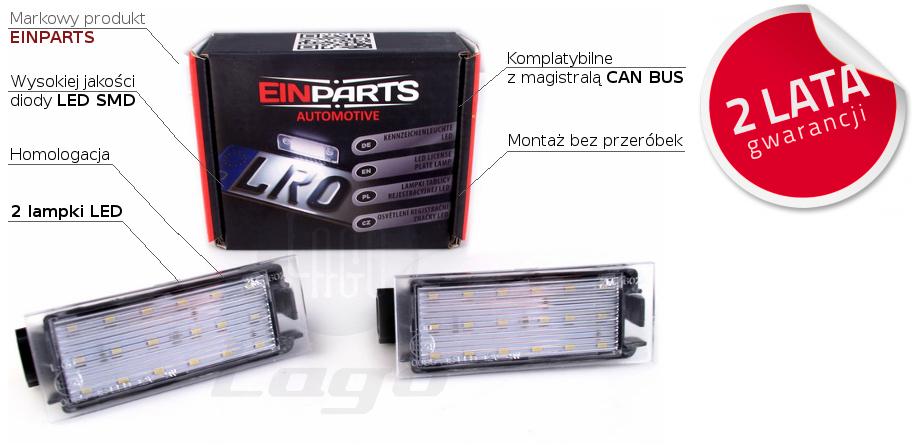Lampki Led Podświetlenia Tablicy Rejestracyjnej Renault